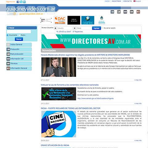 Guía de Cine, vides & Artes Audiovisuales